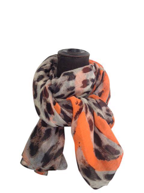ColorMeSocks: Shawl Panter met Oranje hart