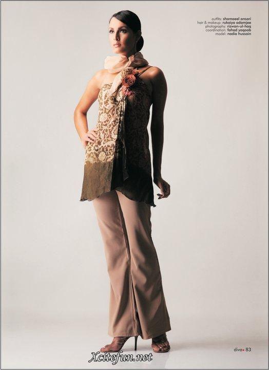 Shamaeel Ansari Collection  Model Nadia Hussain