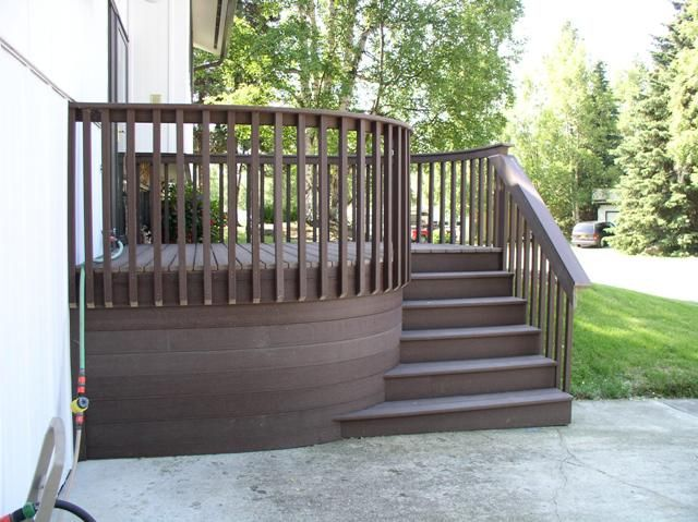 Front porch decks deck design ideas trex cedar hardwood for Front porch deck designs
