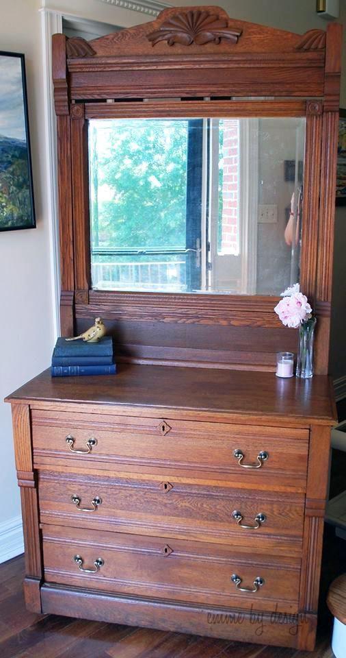 GF Nutmeg Gel Stained Dresser | Emme By Design ~ http://emmebydesign.wix.com/emmebydesign