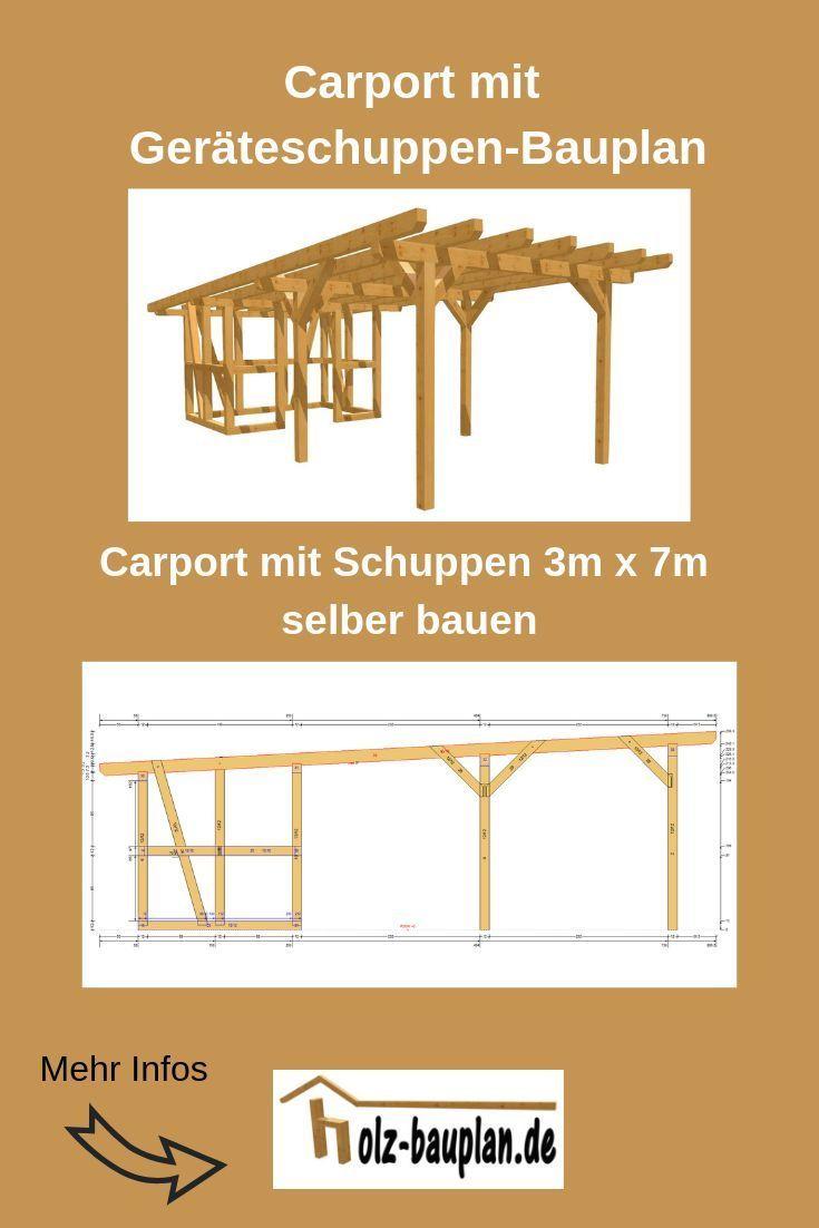 Carport Selber Bauen Carport Mit Gerateschuppen Bauplan Pdf Carport Zeichnung Carport Selber Bauen Carport Mit Schuppen Schuppen Selber Bauen