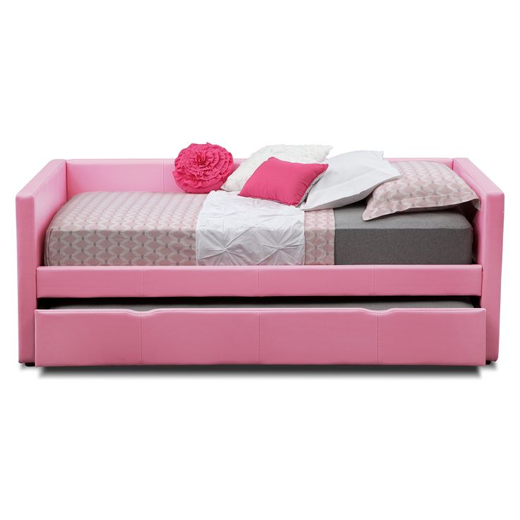 carey pink full daybed with trundle american signature furniture