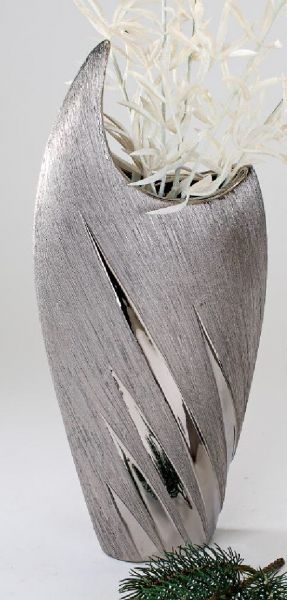 formano moderne Vase silber Keramik 36 cm Tischvase Dekovase Dekoartikel NEU | eBay