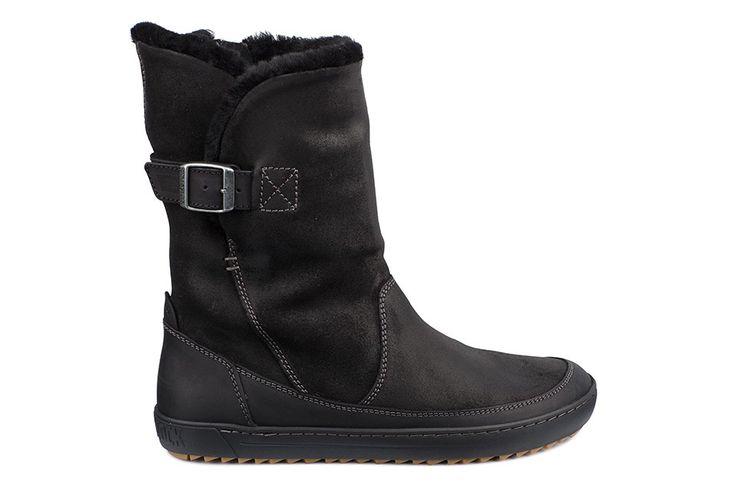 Bottes Birkenstock® WOODBURY couleur noir pour femme en Fourrure et cuir velours (noir) - BK445153 | Birkenstock France