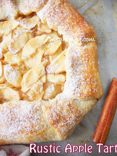 Rustic Apple Tart With Apple Glaze...plus how to make tart base......from scratch!
