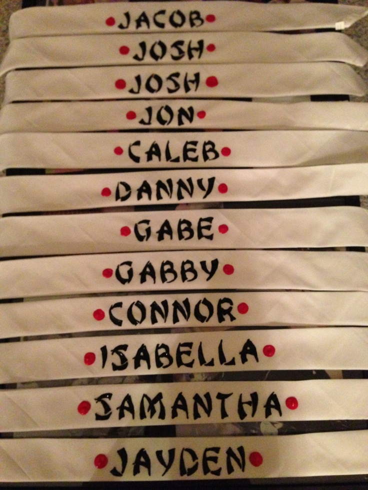 Personalized ninja headbands {3 year old ninja themed party}