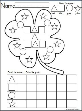 This is a Four Leaf Clover shapes graph available on Madebyteachers.com.  Great for St. Patrick's Day and March. {freebie}