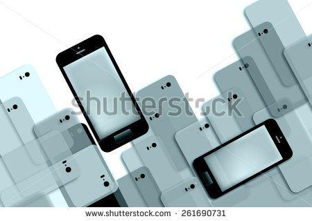 Phone Mania Presentation Background #smartPhone #advertising @shutterstock #stock #illustration #iphone #trend