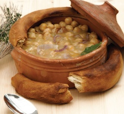 Slow cooked chick beans in a wooden oven (overnight) from the island of Sifnos