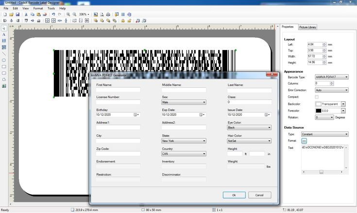 Driver's License PDF417 Barcode Generator Software in 2020
