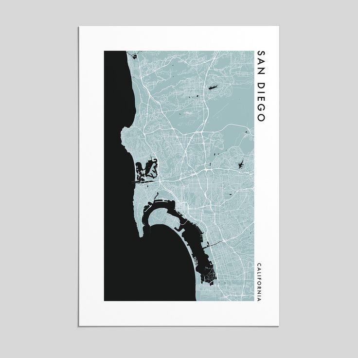 California Quake Map Usgs%0A San Diego  California   City Map Print  Style