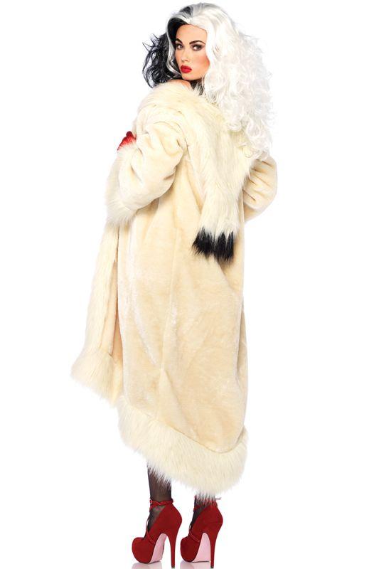 disney villains cruella coat adult costume pure costumes howl o ween pinterest disney. Black Bedroom Furniture Sets. Home Design Ideas