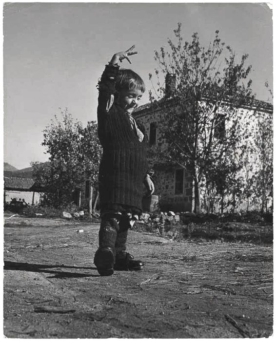 [Elefteria with her new pair of shoes, Oxia, Greece]-David Seymour,1949