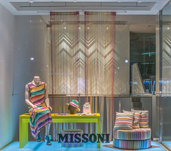 Missoni Tokyo window display 2015 as Part of the World Fashion Window Displays on February 11 2015 in Tokyo Japan
