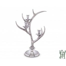 ARTHUR COURT THREE-LIGHT METAL ANTLER CANDLESTICK https://www.gifts4younme.com/home/20614-three-light-metal-antler-candlestick.html #candlestick #candleholder #diningroom #antler #home #gifts