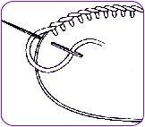 Werkwijze festonsteek - Method blanket stitch