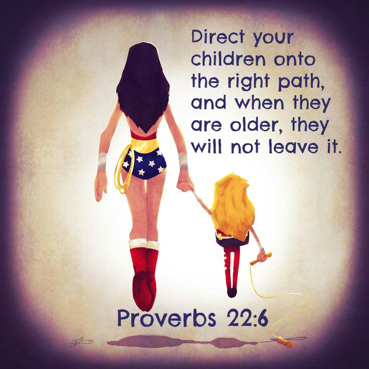 Proverbs 22:6 Direct your children onto the right path,     and when they are older, they will not leave it.