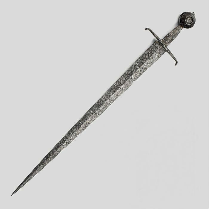 14th century sword for the best man. The best man's job at the wedding was a good swordsman who ensured the wedding would not be interrupted.