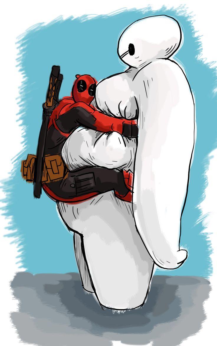 #Deadpool #Fan #Art. (Deadpool & BAYMAX) By: Halil ÖZCANLI. (THE * 5 * STÅR * ÅWARD * OF: * AWWWWW YEAH, IT'S MAJOR ÅWESOMENESS!!!™)[THANK U 4 PINNING!!!<·><]<©> ÅÅÅ+(OB4E)