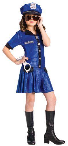 Fun World Girls Police Officer Cute Kids Cop Halloween Costume L Fun World Costumes