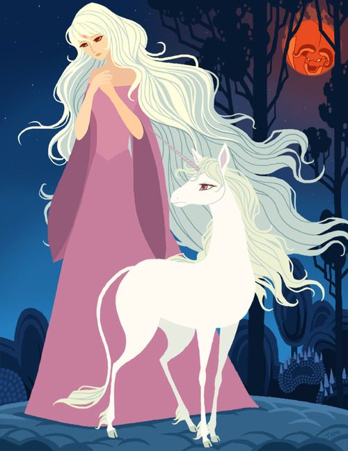 fanartica:    The Last Unicorn - I loved this movie as a kid and it remains one of my favorites. So beautiful, sad and haunting! The theme song alone gives me chills. -Tami