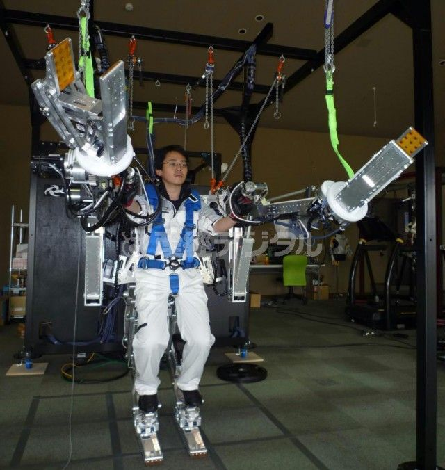 The first affordable, mass-produced robotic exoskeleton will be on sale next year from Panasonic. For 500,000 yen, or slightly under $5,000, this full-body power garment will let you hoist 100-kilo (220-pound) objects and move at speeds up to 8 kph (5 mph). While this device would make a nice addition to any wardrobe, will it have immediate practical value, or will it mainly be purchased by hobbyists and educators as a base platform for mere experimentation?