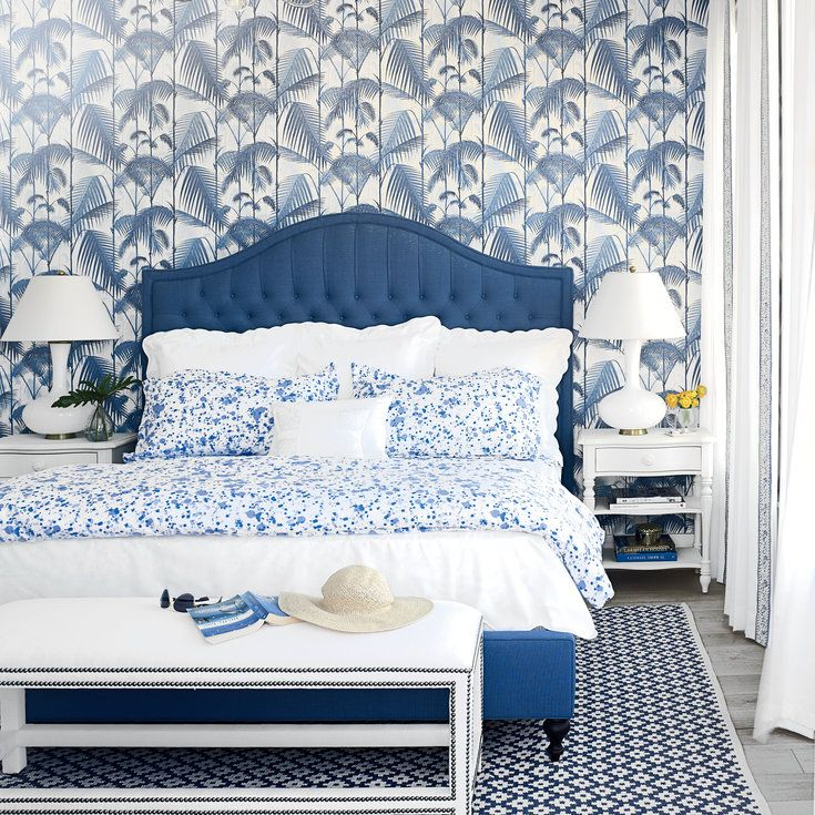 How to Create a Stylish Blue Master Bedroom - Coastal Livingt