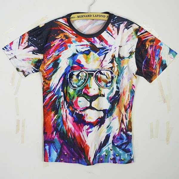MYSTICAL LION TEE MULTI-COLORED CHILL