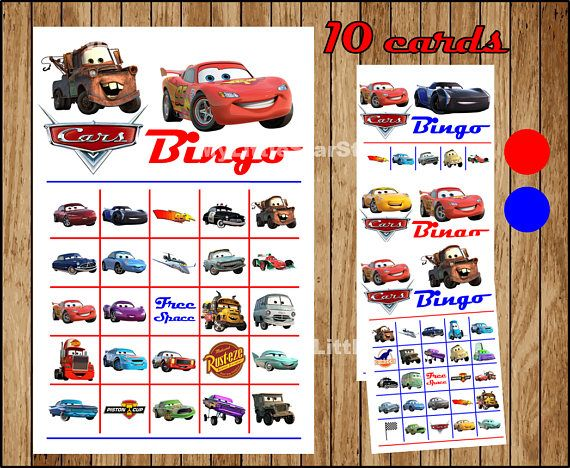 Instantly Download this set of 10 Cars bingo cards. Includes a page of Bingo chips that you can printout as many as you need. All of this for only $3.49  #ad #homedecor #printable