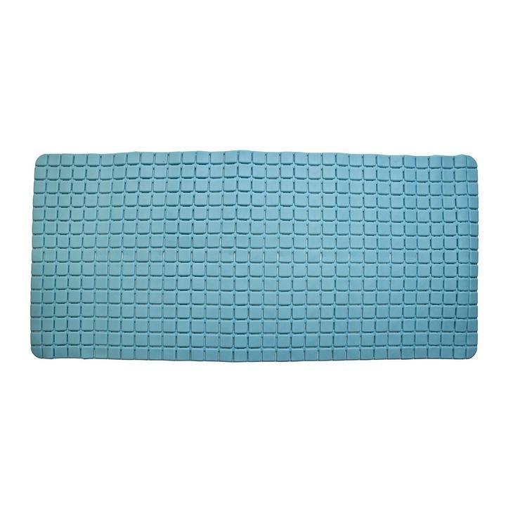 Super Pvc Rubber Bathroom Mat Large Size 78 X 35 Cm Blue