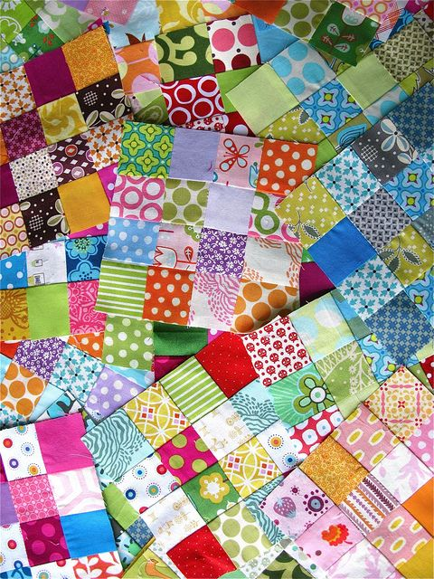 Love this! I think I'm working on a postage stamp with white sashing sometime soon... so many scraps from the string quilt!!
