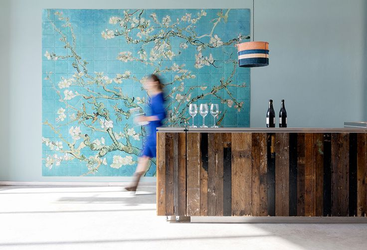 IXXI wall decoration made with Van Gogh's painting 'Almond blossom'. Van Gogh Museum image bank collection. Price in this example is $536.40 (320 x 260 cm) #ixxi #ixxidesign