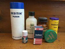 alte ARZNEI-VERPACKUNGEN - 1960/70er - Medizin Dosen, Flaschen - Deko