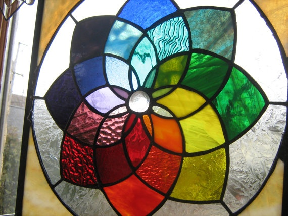 27 best stained glass images on pinterest stained glass - Jewel tones color wheel ...