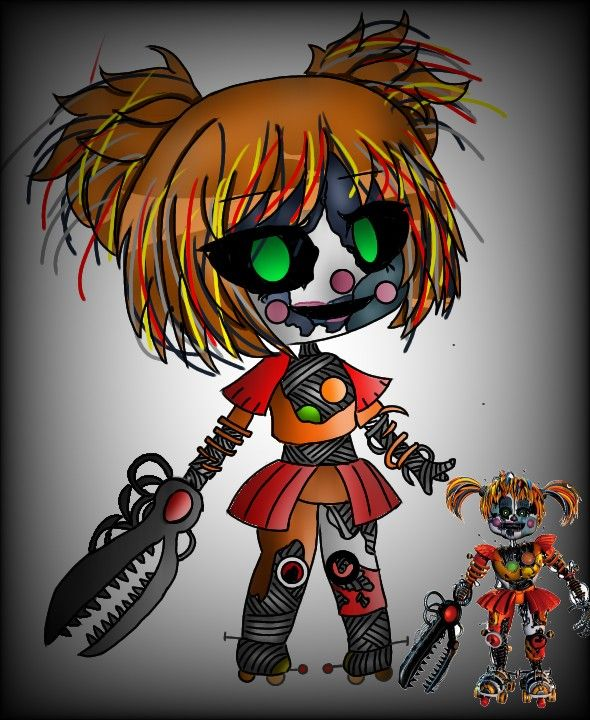 Scrap Baby Endoskeleton : scrap, endoskeleton, Scrap, Werewolf,, Anime,, Afton