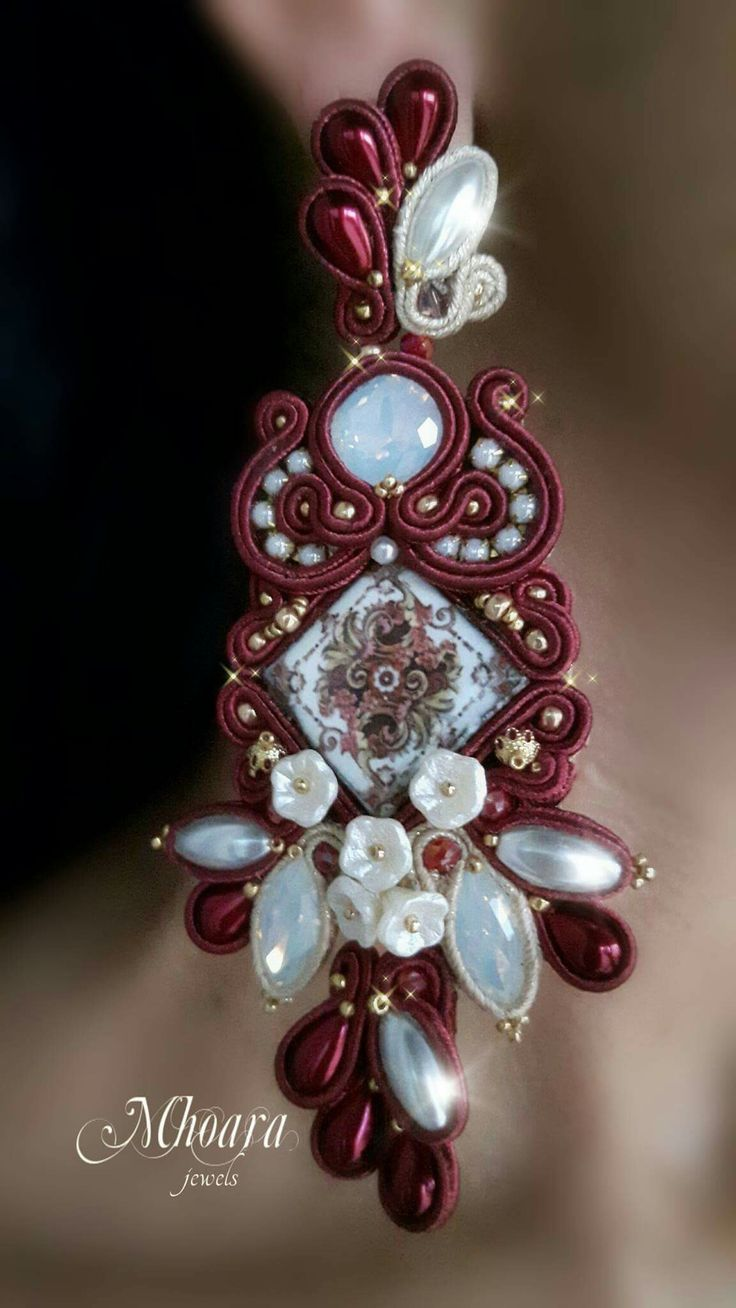 ' Victorian Style ' soutache earrings design by Mhoara Jewels