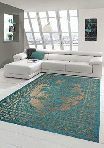 moderner teppich designer teppich orientteppich wohnzimmer teppich mit bordre in trkis beige gre 160x230 cm