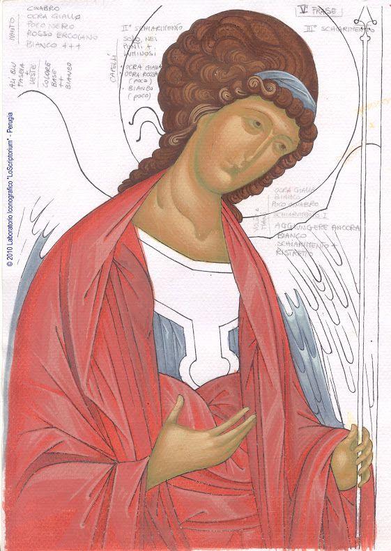 Studio icona Arcangelo Michele 06