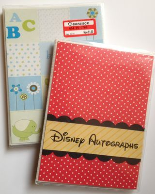 DIY Disney (or anything) Photo-Autograph book