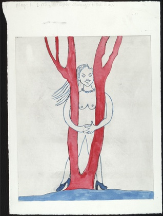 Louise Bourgeois. Embracing the Tree, state II, variant. 2000.