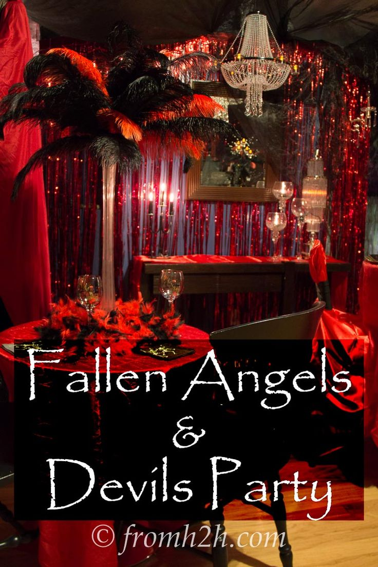 Fallen Angels And Devils Party Ideas Devil Fallen
