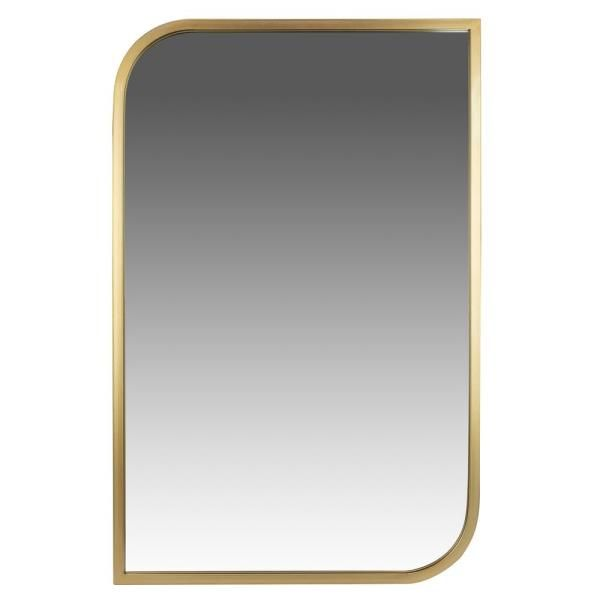 Pinnacle Medium Rectangle Gold Modern Mirror 31 5 In H X 21 5 In W 1805 3802 The Home Depot In 2021 Framed Mirror Wall Modern Mirror Mirror Wall