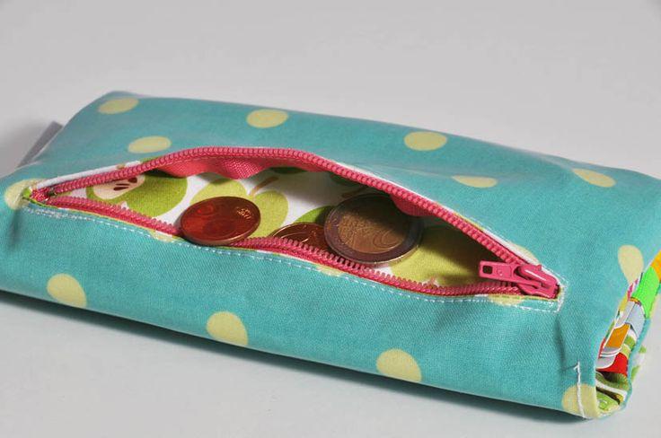 SchTaKa Portemonnaie Portmonee Geldbörse • Schnittmuster + Nähanleitung • DIY • easy • leni pepunkt • sewing pattern • wallet purse