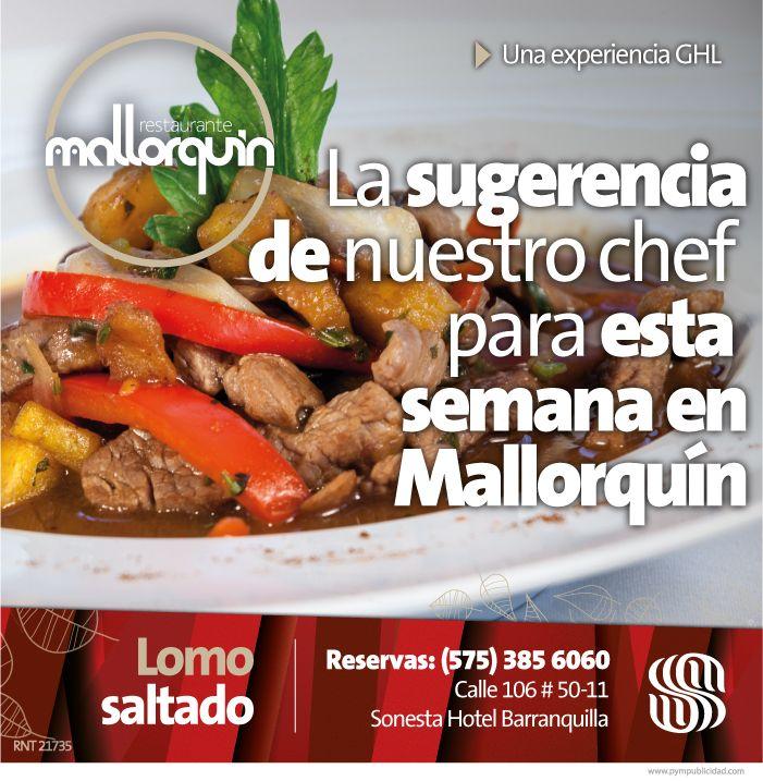 #Lasugerenciadelchef para esta semana. Filete cortado en Julianas y preparado rápidamente con vegetales, salsa de soya, comino y picantes. Precio $ 32.000