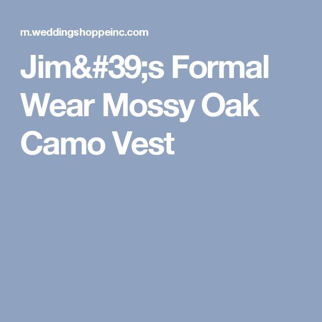 Jim's Formal Wear Mossy Oak Camo Vest