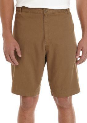 Saddlebred Men's Big & Tall Stretch Shorts - Camel - 44