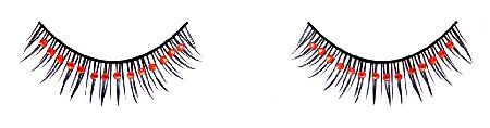Electric Lingerie Acrylic Stone Eye Lashes HV-R017 Well-defined black lashes on strip with red rhinestones applied on top for a daring look. Designed to perfectly blend with your natural lashes, they offer an edgy twist your make-up and an extra spark http://www.MightGet.com/january-2017-12/electric-lingerie-acrylic-stone-eye-lashes-hv-r017.asp