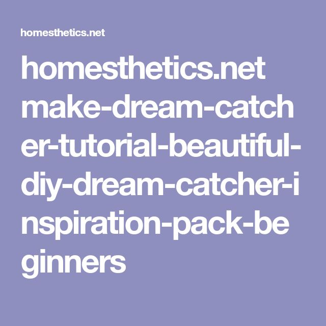 how to make diy dream catcher for kids