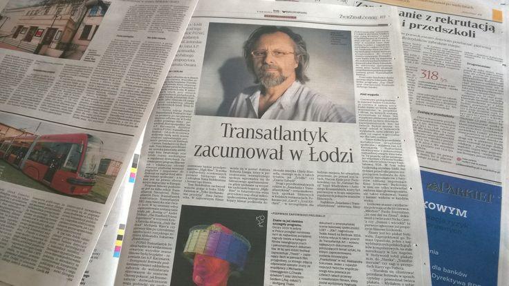 """""""Transatlantyk zacumował do Łodzi""""; Rzeczpospolita, 6.04.2015 #lodz #pgnig #transatlantyk #festival"""