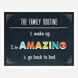 Family Routine Print 14x11 now featured on Fab.: Living Rooms, Families Life, Quote, Fab Com, Routines Prints, Gods Love, Prints 14X11, Bathroom Walls, Families Routines